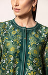 Bottle Green Printed Shirt