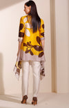 Mustard Printed Jacket Set
