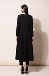 Black Flared Woolen Jacket