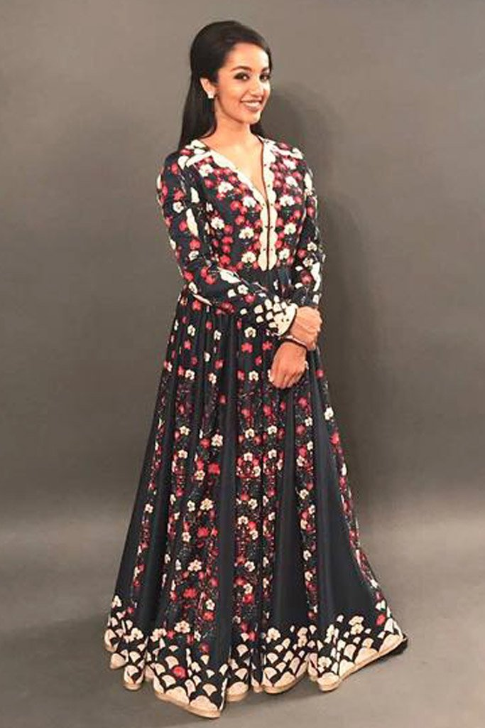 Tejaswi Madiwada in Navy Blue Anarkali- 2317
