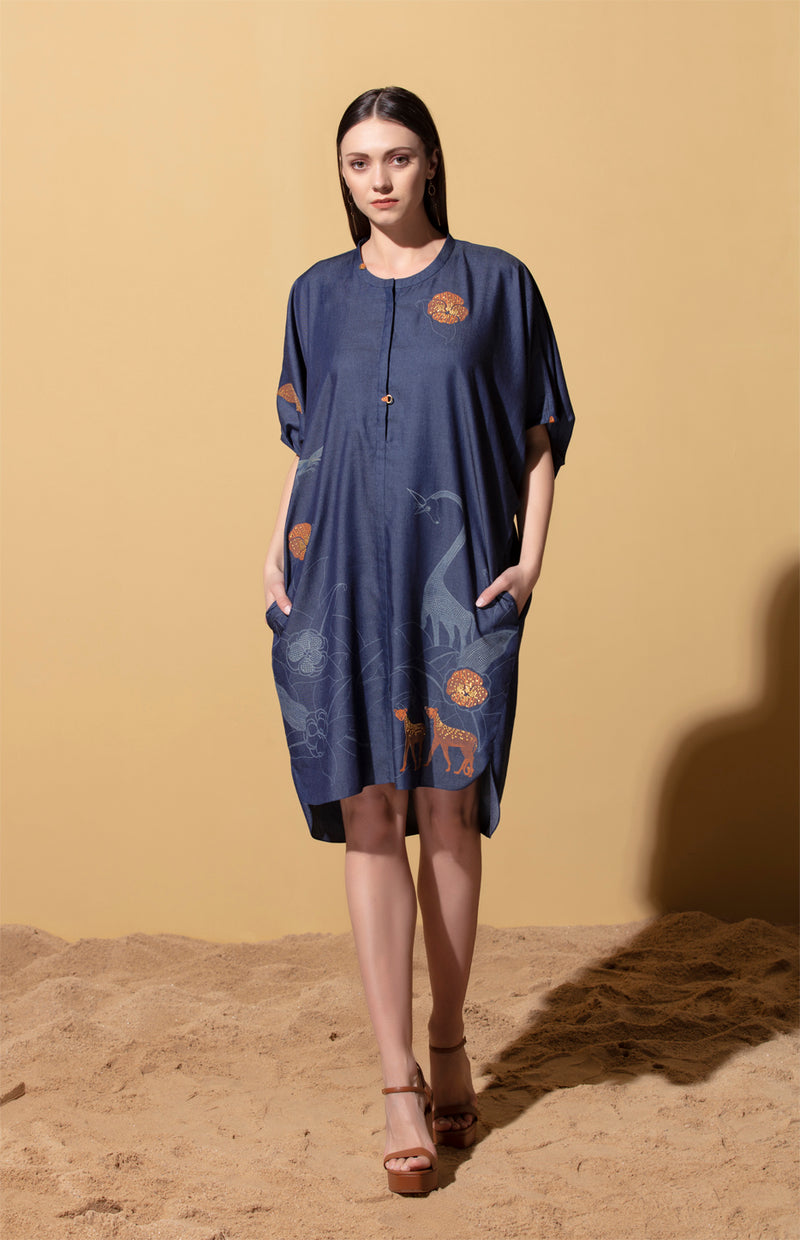 Ifu Blue Dress in Denim