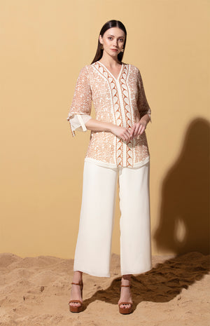 Buhle Ivory Blouse in Georgette