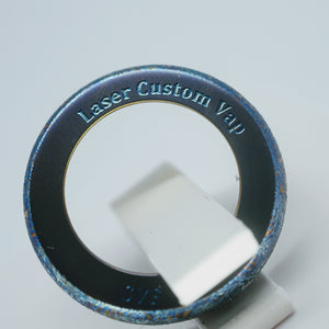 Titanium Beauty Ring 22 24 Laser Custom Vap on Divavap.com