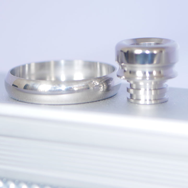 Beauty Ring & Drip Tip NUDE Titanium