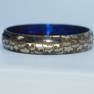 Bart Skulls Beauty Ring Titanium 22/24.5 mm Engraved #2B003