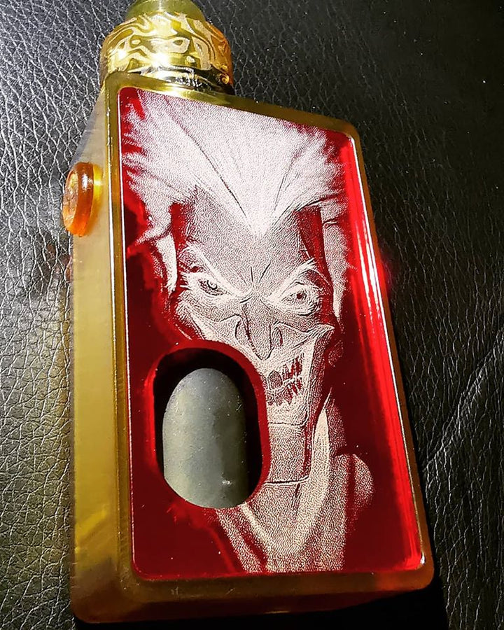 Porte gravée SvF mod Original - Engraved SvF Mod Original Panel - Red Joker