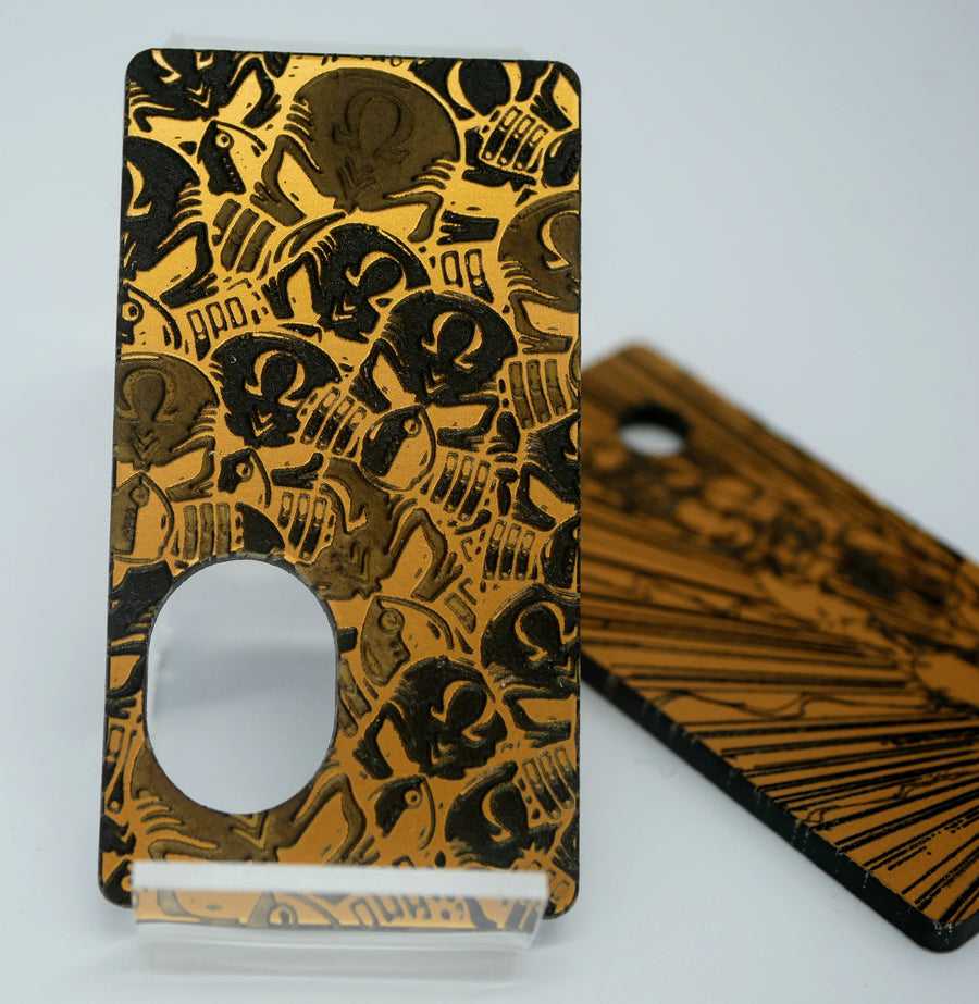 SvF V5 Engraved Panels Kit -  Portes gravées pour SvF V5 (Kit) - Gold mismatched