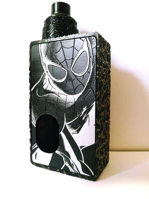 Porte gravée BF mod - Engraved BF Mod Panel - Spiderman Black and white