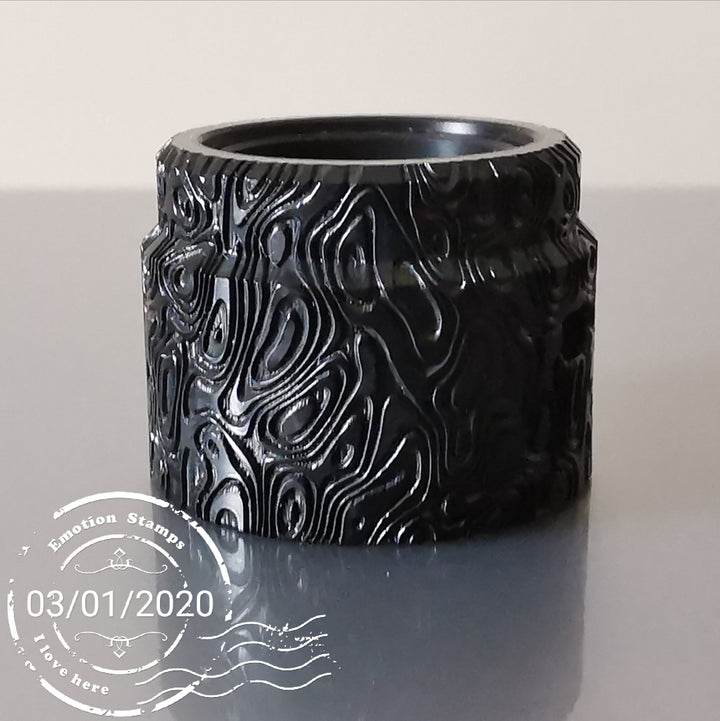 Top Cap Flave 24 engraved by Laser Custom Vap - DAMASCUS