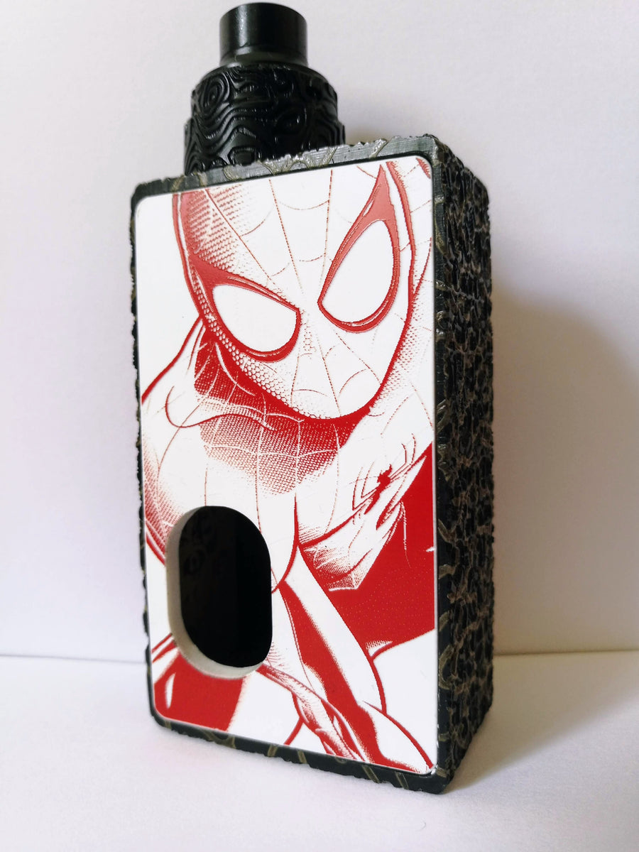 Porte gravée BF mod - Engraved BF Mod Panel - Spiderman white and red