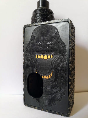 Porte gravée BF mod - Engraved BF Mod Panel - Ghostbuster black and gold
