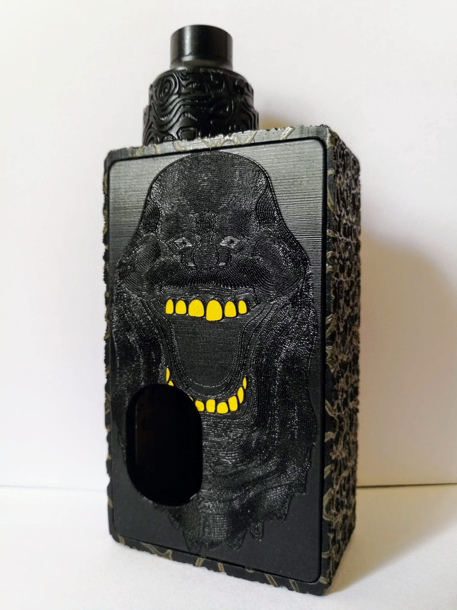 Porte gravée BF mod - Engraved BF Mod Panel - Ghostbuster black and yellow
