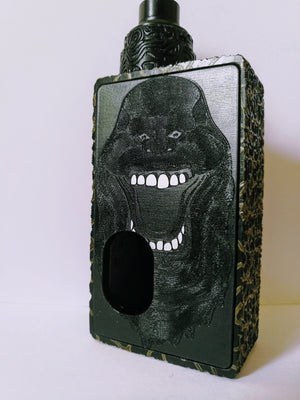 Porte gravée BF mod - Engraved BF Mod Panel - Ghostbuster black and white