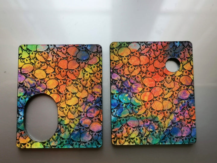 Portes gravées ReseT MINI - Engraved ReseT MINI Panels - Multicolored Skulls