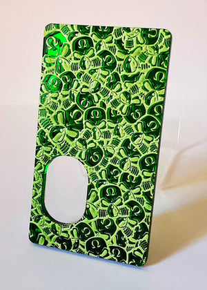 Porte gravée SvF V4 mod - Engraved BF Mod Panel - Little SvF Head Green