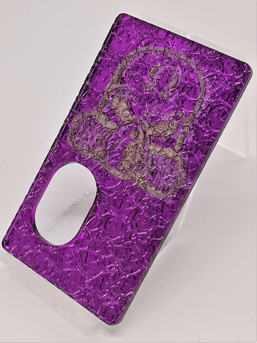 Porte gravée SvF V4  - Engraved SvF V4 Panel -  Central Head Purple