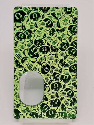 Porte gravée SvF V4 mod - Engraved Panel - SvF Little Skulls Green