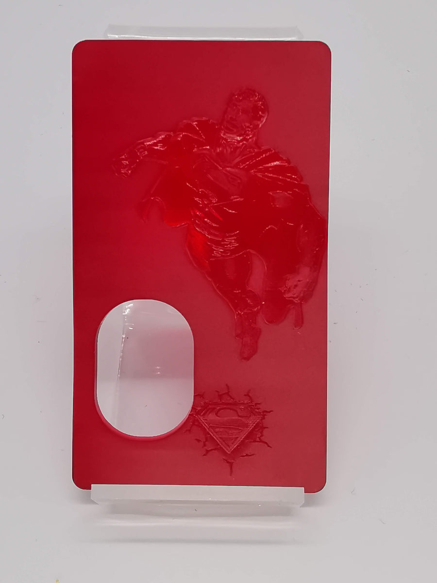 Porte gravée SvF mod Original - Engraved SvF Mod Original Panel - Red Superman