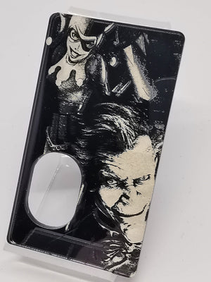 Porte gravée V4 SVF Mods - Engraved Panel -  Black Harley and Joker