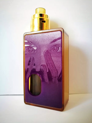 Porte gravée BF mod - Engraved BF Mod Panel - Mask Purple