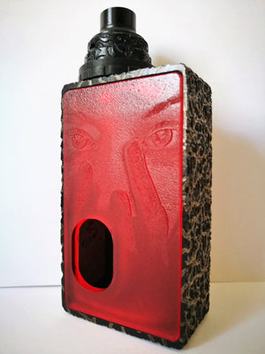Porte gravée BF mod - Engraved BF Mod Panel - Mask Red Mate