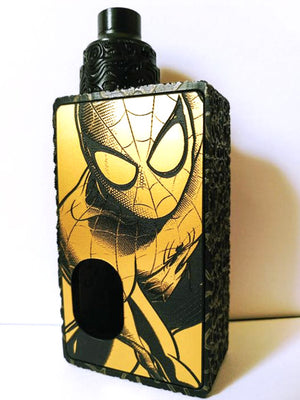 Porte gravée BF mod - Engraved BF Mod Panel - Spiderman Gold and Black