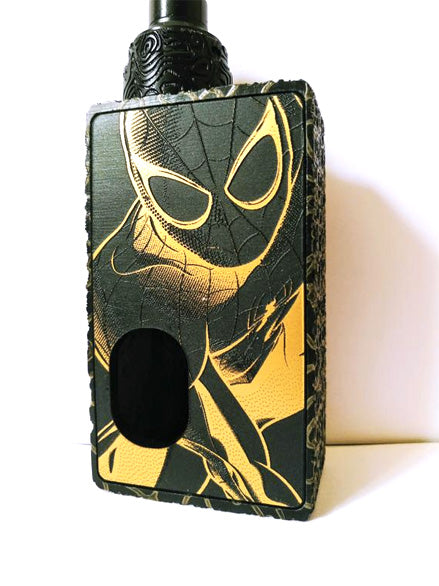 Porte gravée BF mod - Engraved BF Mod Panel - Spiderman Black and Gold