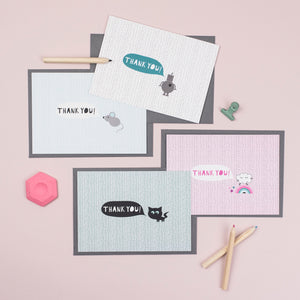 Thank you cards - 4 designs, you choose!