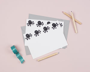 Pirate writing notecards