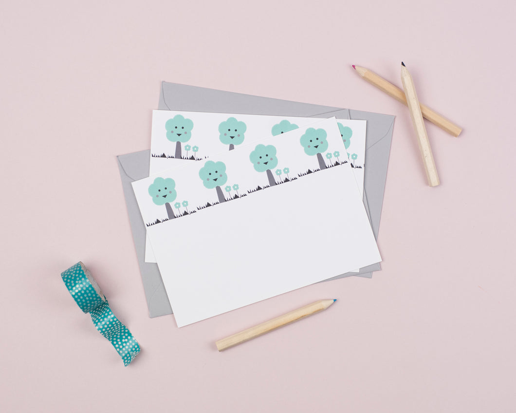 tree writing notecards for kids