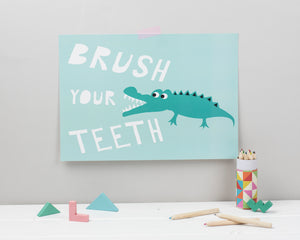 'Brush your teeth' print