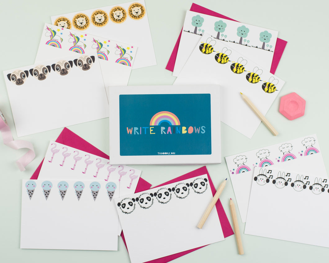 'Write Rainbows' Notecard set- 2 to choose from!
