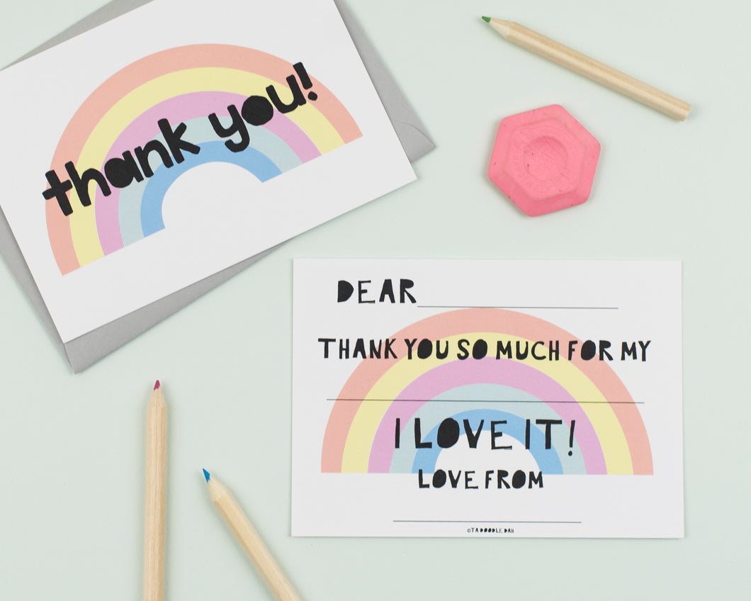 Just a Rainbow thank you cards