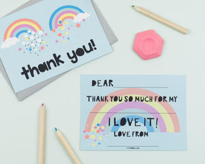 Double Rainbow thank you cards