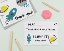 Space and Robot thank you card set