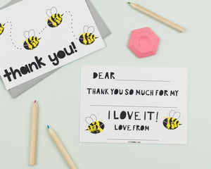 Buzzy Bee thank you cards