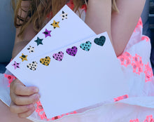 Hearts and Stars notecards