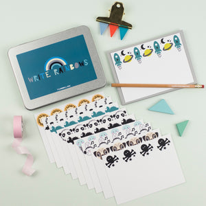 Blue 'Write Rainbows' Stationery gift set.