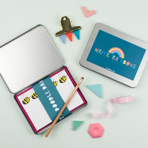Rainbow 'Write Rainbows' Stationery gift set.