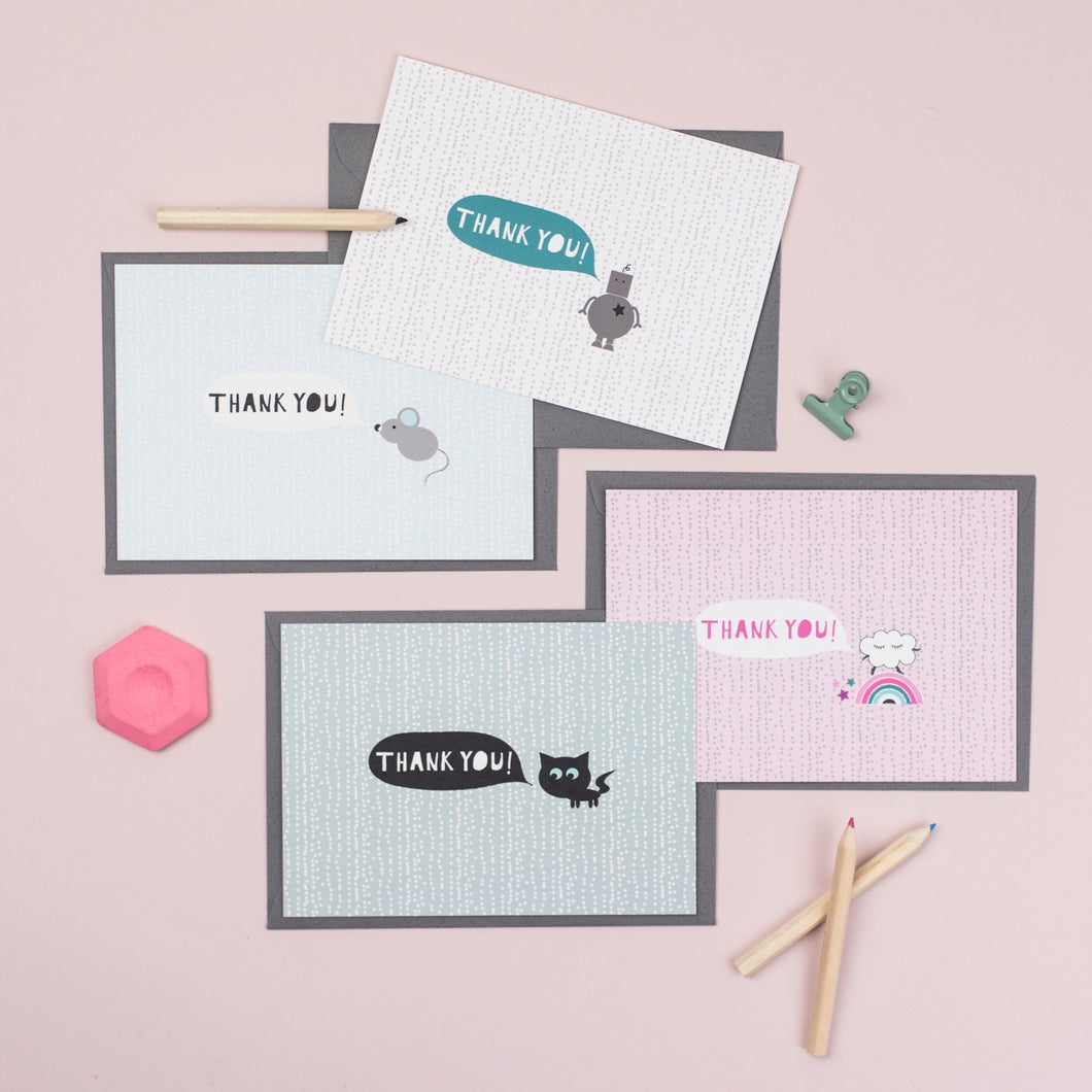 Mixed set of Thank you cards