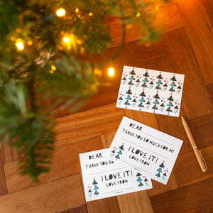 Christmas thank you cards
