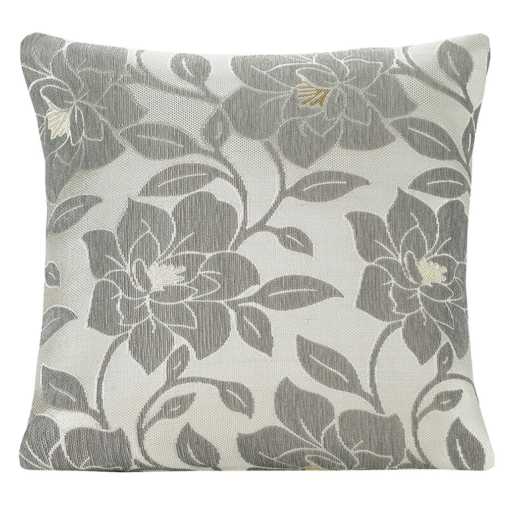 PEONY CUSHION COVER SILVER 18INCH