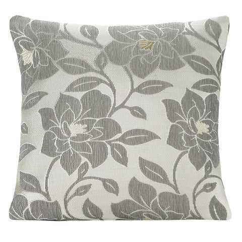 "PEONY 18"" CUSHION COVER - SILVER"