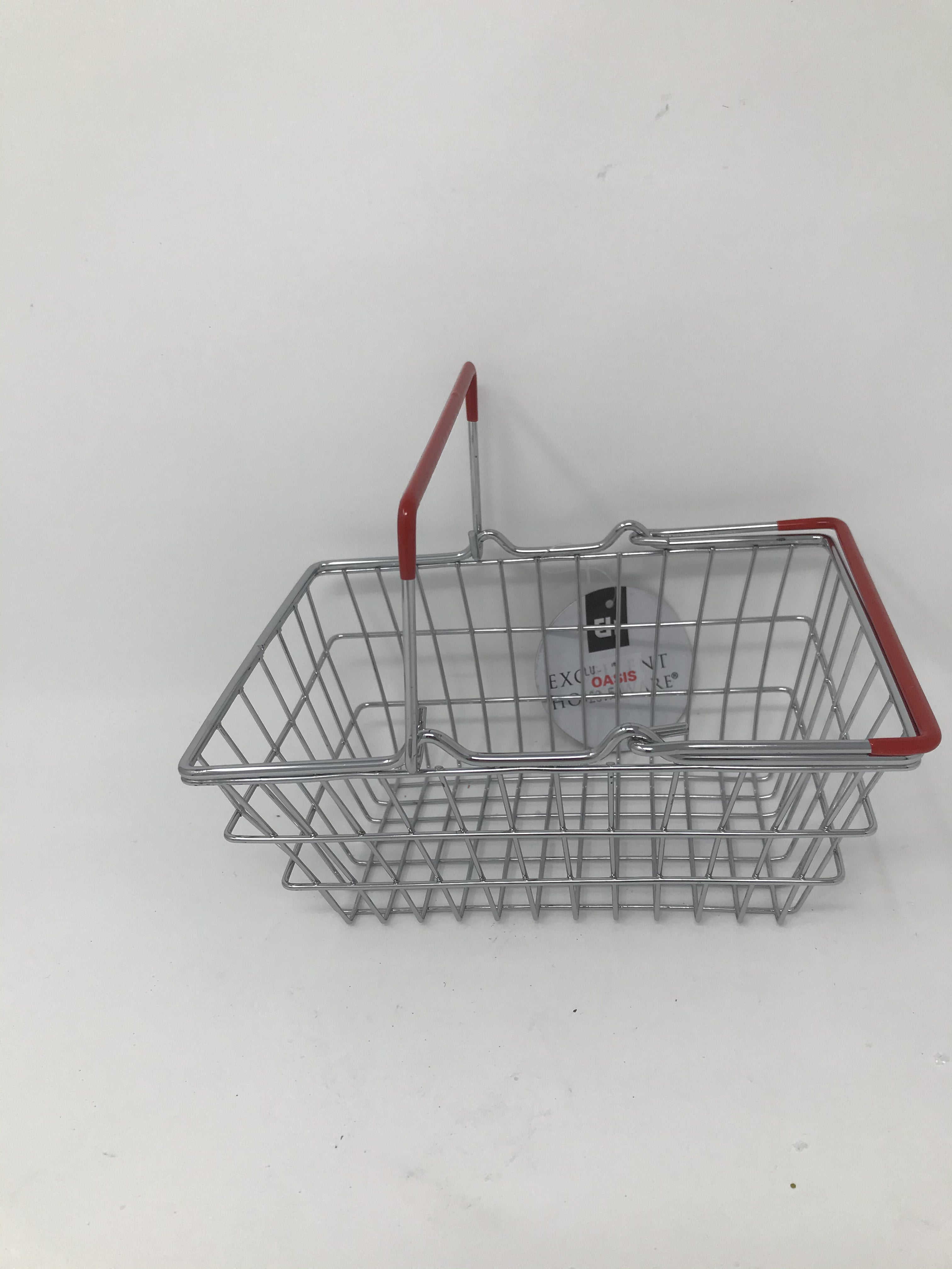 SMALL WIRE BASKET RED