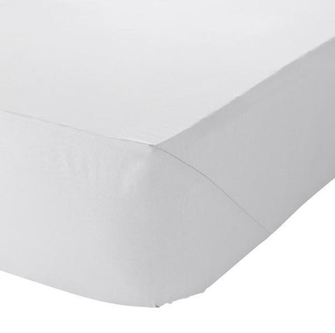 DOUBLE FITTED SHEET - WHITE