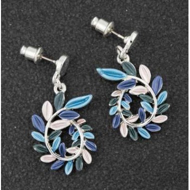 294403 LUNAR TONES LEAF CURL EARRINGS
