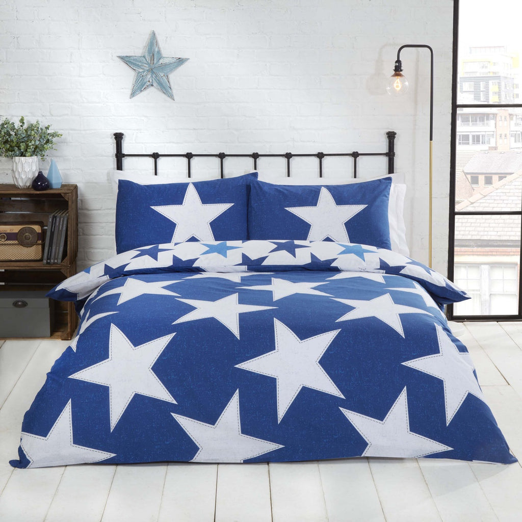 ALL STARS BLUE DOUBLE + 2 PILLOWCASES