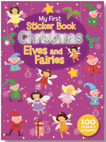 MY FIRST STICKER BOOK CHRISTMAS ELVES AND FAIRIES