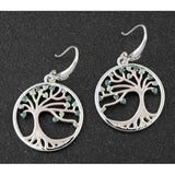 299550 EQ SAGE TONES TREE OF LIFE EARRINGS