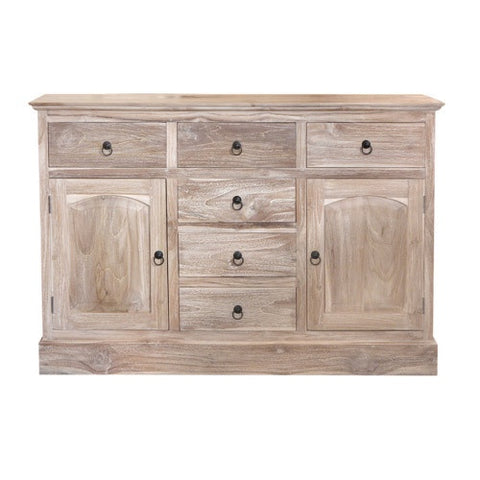 MEDIUM SPANISH CABINET - RUSTIC WHITE WASH